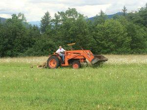 Lynn on Tractor