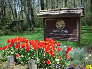 001 Menucha Sign with Tulips