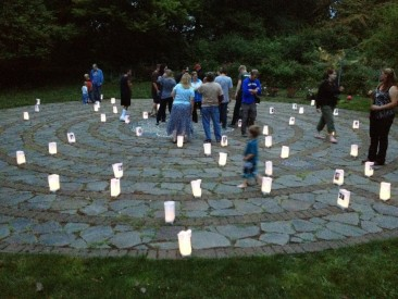 Labyrinth with luminaria