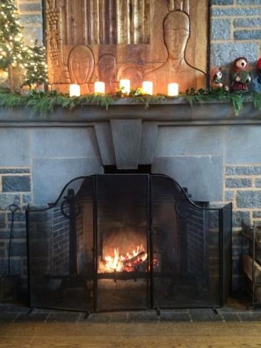 Wright's fireplace